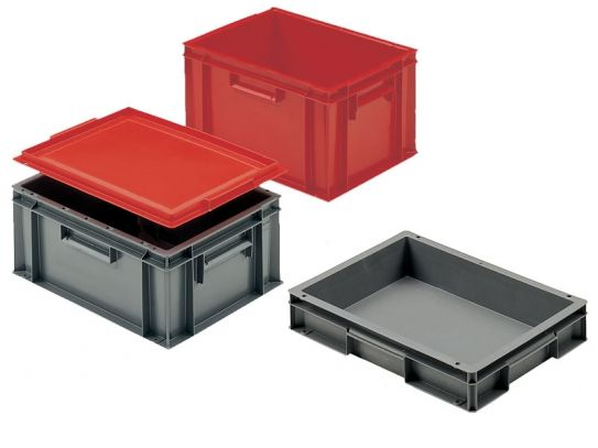 Solid Interstacking Euro Containers