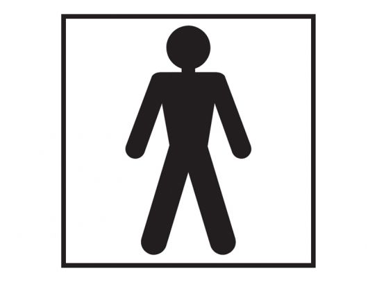 Male Washroom Sign