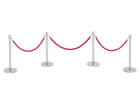Red Velvet Rope Barrier