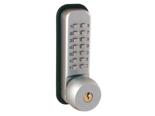 Satin Chrome Digital Lock With Key Override