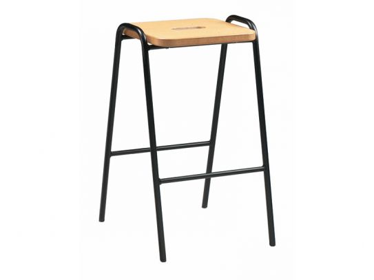 Beech Stacking Stool for Schools