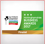 East Midlands Chamber of Commerce Award 2017 Finalist