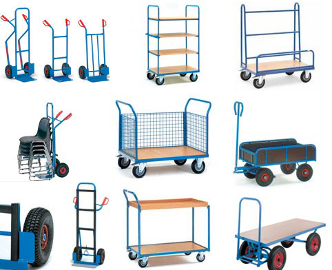 Range of Fetra trucks and trolleys