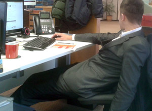 Office slouch seating style