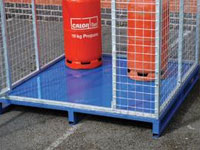 Security mesh cage