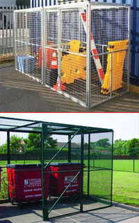 Uses of mesh security cages