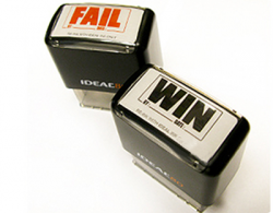 Fail / Win Stamps